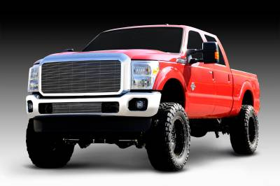 T-REX Grilles - 2011-2016 Super Duty Billet Grille, Polished, 1 Pc, Insert - PN #20546 - Image 4