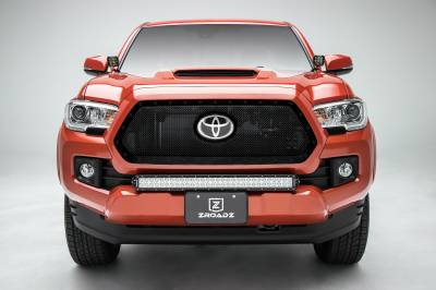 T-REX Grilles - 2018-2021 Tacoma Stealth X-Metal Grille, Black, 1 Pc, Insert, Black Studs, Does Not Fit Vehicles with Camera - PN #6719511-BR - Image 3