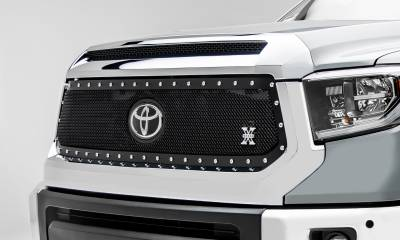 T-REX Grilles - 2018-2021 Tundra X-Metal Grille, Black, 1 Pc, Replacement, Chrome Studs, Does Not Fit Vehicles with Camera - PN #6719661 - Image 2