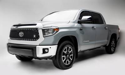 T-REX Grilles - 2018-2021 Tundra X-Metal Grille, Black, 1 Pc, Replacement, Chrome Studs, Does Not Fit Vehicles with Camera - PN #6719661 - Image 3