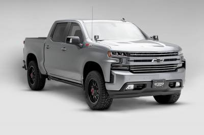 T-REX Grilles - 2019-2021 Silverado 1500 Trail Boss, RST, LT Round Billet Grille, Horizontal Round, Silver, 4 Pc, Overlay, Does Not Fit Vehicles with Camera - PN #6211236 - Image 2