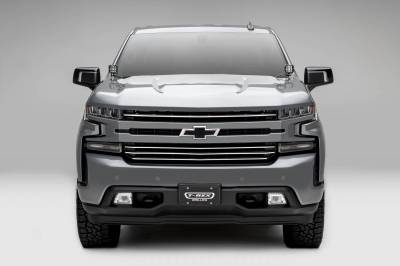T-REX Grilles - 2019-2021 Silverado 1500 Trail Boss, RST, LT Round Billet Grille, Horizontal Round, Silver, 4 Pc, Overlay, Does Not Fit Vehicles with Camera - PN #6211236 - Image 3