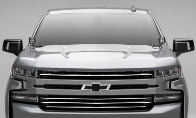 T-REX Grilles - 2019-2021 Silverado 1500 Trail Boss, RST, LT Round Billet Grille, Horizontal Round, Brushed, 4 Pc, Overlay, Does Not Fit Vehicles with Camera - PN #6211233 - Image 5