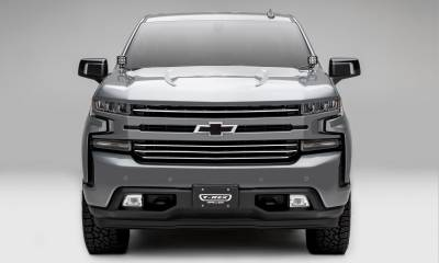 T-REX Grilles - 2019-2021 Silverado 1500 Trail Boss, RST, LT Round Billet Grille, Horizontal Round, Brushed, 4 Pc, Overlay, Does Not Fit Vehicles with Camera - PN #6211233 - Image 6