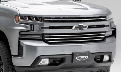 T-REX Grilles - 2019-2021 Silverado 1500 Trail Boss, RST, LT Round Billet Grille, Horizontal Round, Brushed, 4 Pc, Overlay, Does Not Fit Vehicles with Camera - PN #6211233 - Image 4