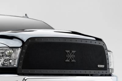 T-REX Grilles - 2013-2018 Ram 2500, 3500 Stealth X-Metal Grille, Black, 1 Pc, Replacement, Black Studs - PN #6714521-BR - Image 1