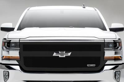 T-REX Grilles - 2016-2018 Silverado 1500 Upper Class Series Main Grille, Black, 1 Pc, Replacement, 1 Bar Design - PN #51131 - Image 4