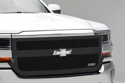 T-REX Grilles - 2016-2018 Silverado 1500 Upper Class Series Main Grille, Black, 1 Pc, Replacement, 1 Bar Design - PN #51131 - Image 1