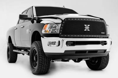 T-REX Grilles - 2013-2018 Ram 2500, 3500 X-Metal Grille, Black, 1 Pc, Replacement, Chrome Studs - PN #6714521 - Image 2