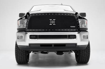 T-REX Grilles - 2013-2018 Ram 2500, 3500 X-Metal Grille, Black, 1 Pc, Replacement, Chrome Studs - PN #6714521 - Image 3