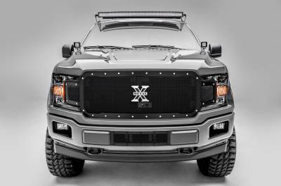 T-REX Grilles - 2018-2020 F-150 X-Metal Grille, Black, 1 Pc, Replacement, Chrome Studs, Fits Vehicles with Camera - PN #6715791 - Image 1