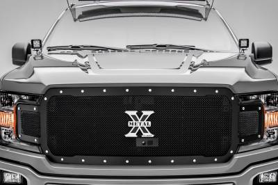T-REX Grilles - 2018-2020 F-150 X-Metal Grille, Black, 1 Pc, Replacement, Chrome Studs, Fits Vehicles with Camera - PN #6715791 - Image 2