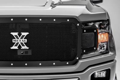 T-REX Grilles - 2018-2020 F-150 X-Metal Grille, Black, 1 Pc, Replacement, Chrome Studs, Fits Vehicles with Camera - PN #6715791 - Image 3