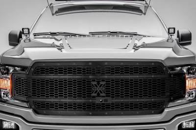 T-REX Grilles - 2018-2020 F-150 Stealth Laser X Grille, Black, 1 Pc, Replacement, Black Studs, Fits Vehicles with Camera - PN #7715891-BR - Image 2