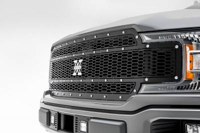 T-REX Grilles - 2018-2020 F-150 Laser X Grille, Black, 1 Pc, Replacement, Chrome Studs, Does Not Fit Vehicles with Camera - PN #7715841 - Image 4