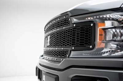 T-REX Grilles - 2018-2020 F-150 Laser X Grille, Black, 1 Pc, Replacement, Chrome Studs, Does Not Fit Vehicles with Camera - PN #7715841 - Image 5