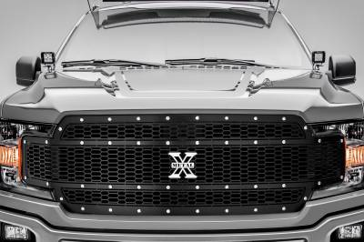 T-REX Grilles - 2018-2020 F-150 Laser X Grille, Black, 1 Pc, Replacement, Chrome Studs, Does Not Fit Vehicles with Camera - PN #7715841 - Image 2