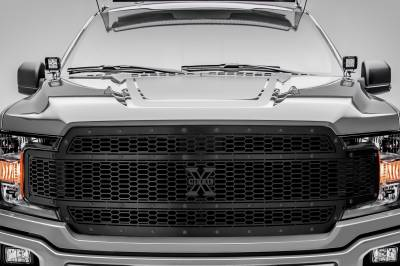 T-REX Grilles - 2018-2020 F-150 Stealth Laser X Grille, Black, 1 Pc, Replacement, Black Studs, Does Not Fit Vehicles with Camera - PN #7715841-BR - Image 2