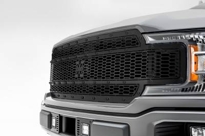 T-REX Grilles - 2018-2020 F-150 Stealth Laser X Grille, Black, 1 Pc, Replacement, Black Studs, Does Not Fit Vehicles with Camera - PN #7715841-BR - Image 4