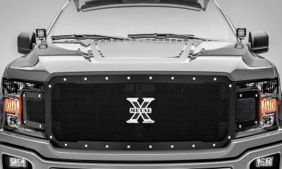 T-REX Grilles - 2018-2020 F-150 X-Metal Grille, Black, 1 Pc, Replacement, Chrome Studs, Does Not Fit Vehicles with Camera - PN #6715711 - Image 2