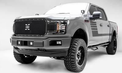 T-REX Grilles - 2018-2020 F-150 X-Metal Grille, Black, 1 Pc, Replacement, Chrome Studs, Does Not Fit Vehicles with Camera - PN #6715711 - Image 5