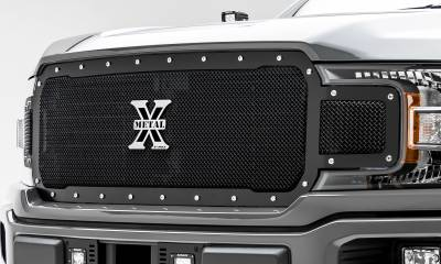 T-REX Grilles - 2018-2020 F-150 X-Metal Grille, Black, 1 Pc, Replacement, Chrome Studs, Does Not Fit Vehicles with Camera - PN #6715711 - Image 6