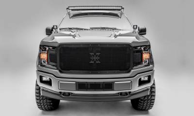 T-REX Grilles - 2018-2020 F-150 Stealth X-Metal Grille, Black, 1 Pc, Replacement, Black Studs, Does Not Fit Vehicles with Camera - PN #6715711-BR - Image 1