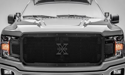 T-REX Grilles - 2018-2020 F-150 Stealth X-Metal Grille, Black, 1 Pc, Replacement, Black Studs - PN #6715711-BR - Image 2