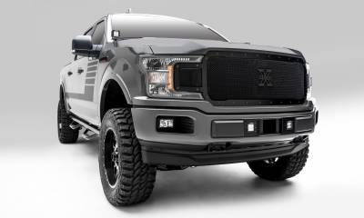 T-REX Grilles - 2018-2020 F-150 Stealth X-Metal Grille, Black, 1 Pc, Replacement, Black Studs - PN #6715711-BR - Image 4