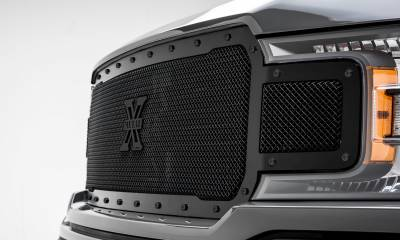 T-REX Grilles - 2018-2020 F-150 Stealth X-Metal Grille, Black, 1 Pc, Replacement, Black Studs, Does Not Fit Vehicles with Camera - PN #6715711-BR - Image 7