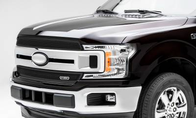 T-REX Grilles - 2018-2020 F-150 XLT, Lariat Upper Class Series Main Grille, Black, 2 Pc, Overlay/Insert, Does Not Fit Vehicles with Camera - PN #51711 - Image 3