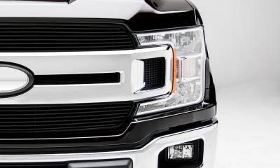 T-REX Grilles - 2018-2020 F-150 XLT, Lariat Billet Grille, Black, 2 Pc, Insert, Does Not Fit Vehicles with Camera - PN #20571B - Image 3