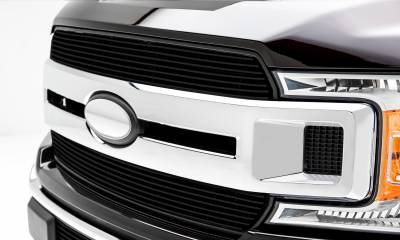 T-REX Grilles - 2018-2020 F-150 XLT, Lariat Billet Grille, Black, 2 Pc, Insert, Does Not Fit Vehicles with Camera - PN #20571B - Image 4