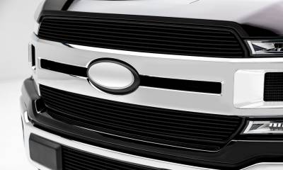 T-REX Grilles - 2018-2020 F-150 XLT, Lariat Billet Grille, Black, 2 Pc, Insert, Does Not Fit Vehicles with Camera - PN #20571B - Image 5