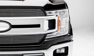 T-REX Grilles - 2018-2020 F-150 XLT, Lariat Billet Grille, Polished, 2 Pc, Insert, Does Not Fit Vehicles with Camera - PN #20571 - Image 3
