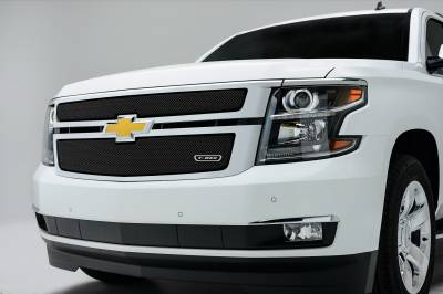 T-REX Grilles - 2015-2020 Suburban and Tahoe LT, LTZ Sport Grille, Black, 2 Pc, Overlay - PN #46055 - Image 1