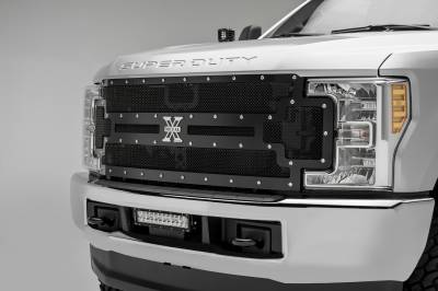 T-REX Grilles - 2017-2019 Super Duty X-Metal Grille, Black, 1 Pc, Replacement, Chrome Studs, Does Not Fit Vehicles with Camera - PN #6715471 - Image 2