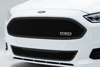 T-REX Grilles - 2013-2015 Ford Fusion Upper Class Series Main Grille, Black, 1 Pc, Replacement, Full Opening - PN #51532 - Image 2