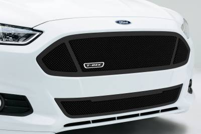 T-REX Grilles - 2013-2015 Ford Fusion Upper Class Grille, Black, 1 Pc, Replacement,  3 Window Design - PN #51531 - Image 2