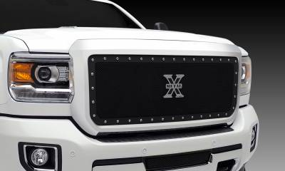 T-REX Grilles - 2015-2019 Sierra HD X-Metal Grille, Black, 1 Pc, Insert, Chrome Studs - PN #6712111 - Image 3
