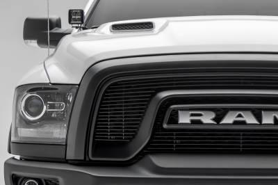 T-REX Grilles - 2015-2018 Ram 1500 Rebel Laser Billet Grille, Black, 2 Pc, Overlay - PN #6214641 - Image 5