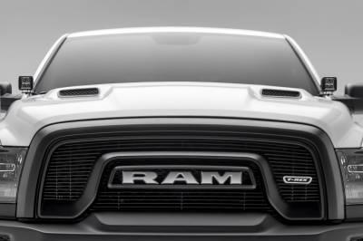 T-REX Grilles - 2015-2018 Ram 1500 Rebel Laser Billet Grille, Black, 2 Pc, Overlay - PN #6214641 - Image 2