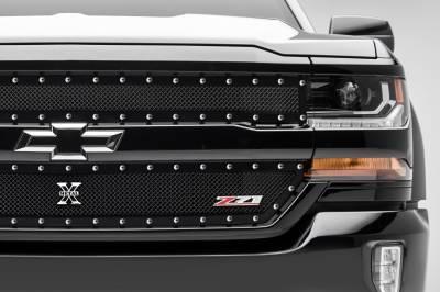 T-REX Grilles - 2016-2018 Silverado 1500 Z71 X-Metal Grille, Black, 2 Pc, Insert, Chrome Studs - PN #6711241 - Image 4