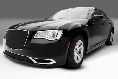 T-REX Grilles - 2015-2018 Chrysler 300 Sport Bumper Grille, Black, 1 Pc, Overlay, Only fits models without adaptive cruise control - PN #47436 - Image 3