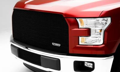 T-REX Grilles - 2015-2017 F-150 Billet Grille, Black, 1 Pc, Replacement, Does Not Fit Vehicles with Camera - PN #20573B - Image 1