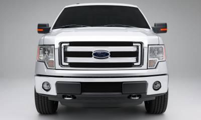 T-REX Grilles - Ford F150 XLT, Billet Grille, Main, Overlay, 4 Pc's, Black Powder Coating Aluminum Bars - Image 3
