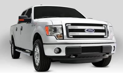 T-REX Grilles - Ford F150 XLT, Billet Grille, Main, Overlay, 4 Pc's, Black Powder Coating Aluminum Bars - Image 4