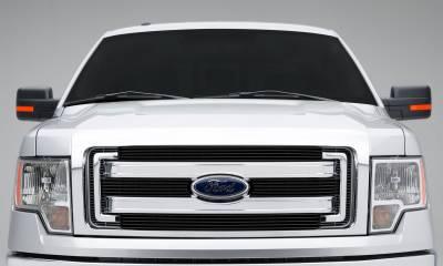 T-REX Grilles - Ford F150 XLT, Billet Grille, Main, Overlay, 4 Pc's, Black Powder Coating Aluminum Bars - Image 5