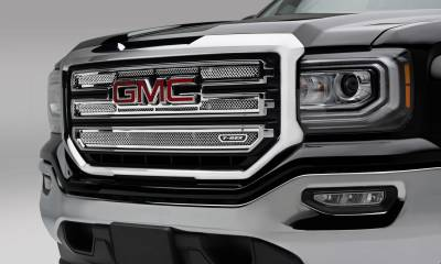T-REX Grilles - 2016-2018 Sierra 1500 SLT Upper Class Series Main Grille, Polished, 2 Pc, Overlay - PN #54215 - Image 1