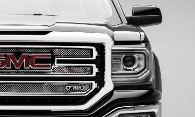 T-REX Grilles - 2016-2018 Sierra 1500 SLT Upper Class Series Main Grille, Polished, 2 Pc, Overlay - PN #54215 - Image 2